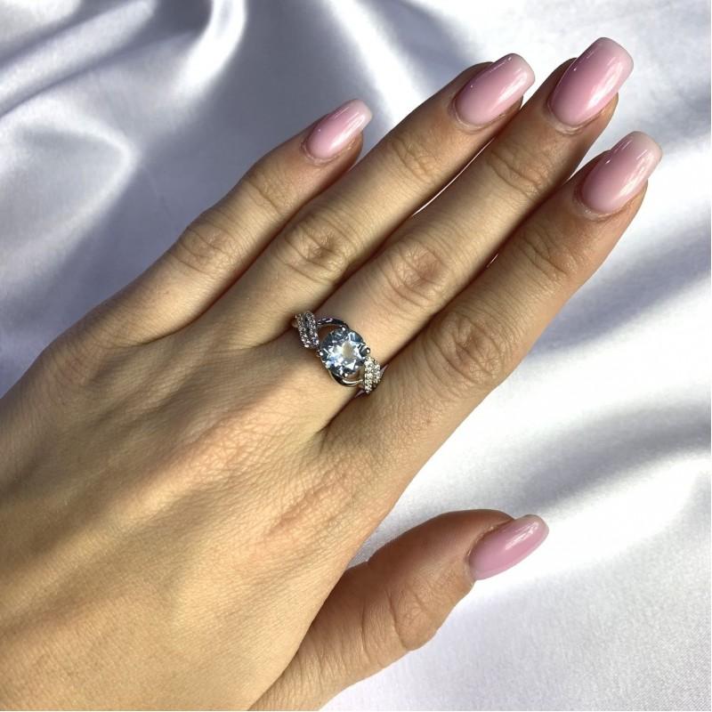 Серебряное кольцо SilverBreeze с натуральным топазом 2.621ct (2049388) 16.5 размер