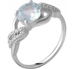 Серебряное кольцо SilverBreeze с натуральным топазом 2.621ct (2049388) 17 размер