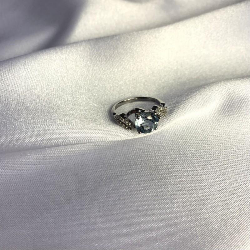Серебряное кольцо SilverBreeze с натуральным топазом 2.621ct (2049388) 18 размер