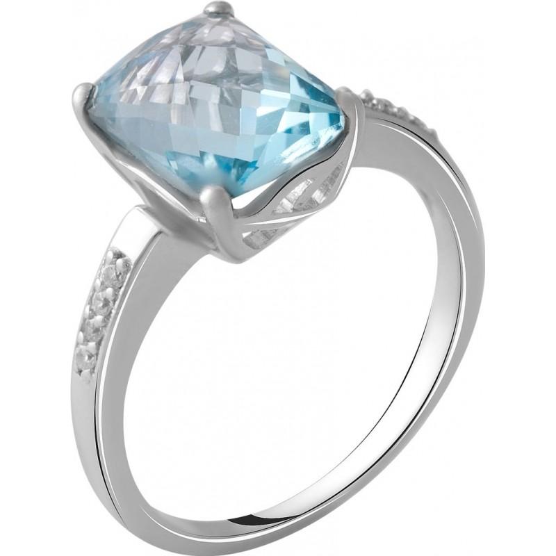 Серебряное кольцо SilverBreeze с натуральным топазом 3.858ct (2049364) 17 размер