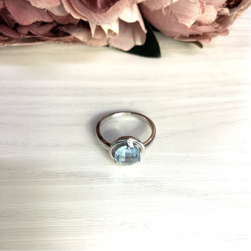 Серебряное кольцо SilverBreeze с натуральным топазом 2.11ct (2049340) 17 размер
