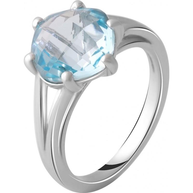 Серебряное кольцо SilverBreeze с натуральным топазом 4.6ct (2049302) 17 размер