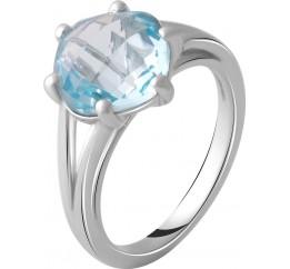 Серебряное кольцо SilverBreeze с натуральным топазом 4.46ct (2049302) 17.5 размер