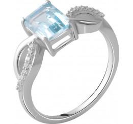Серебряное кольцо SilverBreeze с натуральным топазом 2.239ct (2049227) 17.5 размер