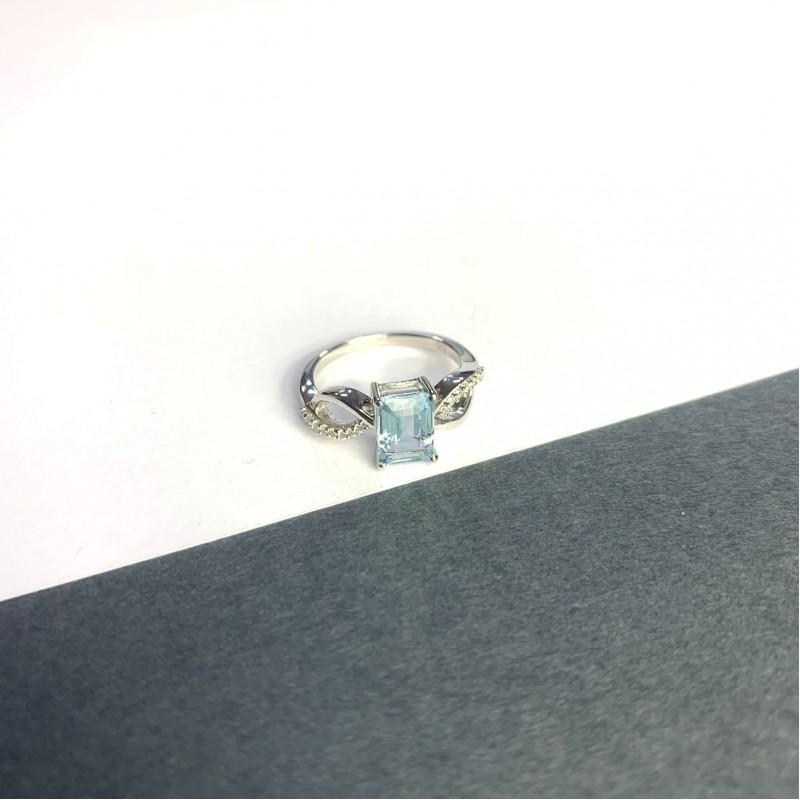 Серебряное кольцо SilverBreeze с натуральным топазом 2.239ct (2049227) 18 размер