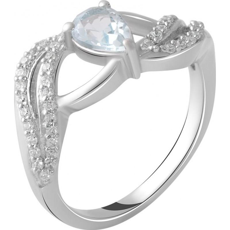 Серебряное кольцо SilverBreeze с натуральным топазом 0.8ct (2049203) 17 размер