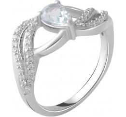 Серебряное кольцо SilverBreeze с натуральным топазом 0.8ct (2049203) 17.5 размер