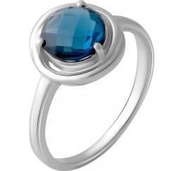 Серебряное кольцо SilverBreeze с натуральным топазом Лондон Блю 1.525ct (2049043) 17.5 размер