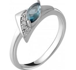 Серебряное кольцо SilverBreeze с натуральным топазом Лондон Блю 0.45ct (2049036) 18.5 размер