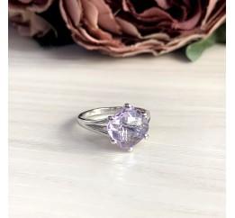 Серебряное кольцо SilverBreeze с натуральным аметистом 2.3ct (2048923) 17 размер