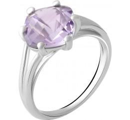 Серебряное кольцо SilverBreeze с натуральным аметистом 2.3ct (2048923) 18 размер