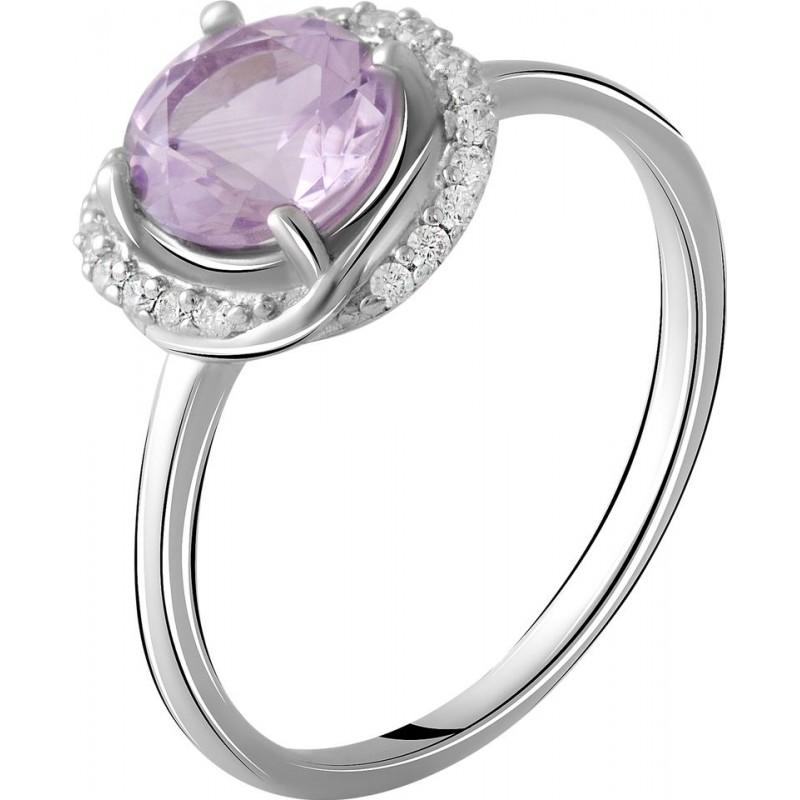 Серебряное кольцо SilverBreeze с натуральным аметистом 1.17ct (2048787) 17.5 размер