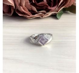 Серебряное кольцо SilverBreeze с натуральным аметистом 1.09ct (2048770) 17.5 размер