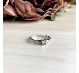 Серебряное кольцо SilverBreeze с натуральными бриллиантом 0.05ct (2048602) 18 размер