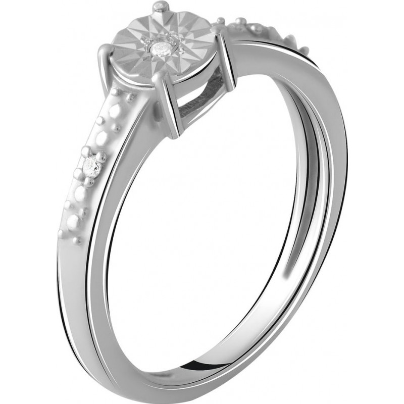 Серебряное кольцо SilverBreeze с натуральными бриллиантом 0.027ct (2048565) 18.5 размер