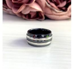 Серебряное кольцо SilverBreeze с керамикой (2048244) 18 размер