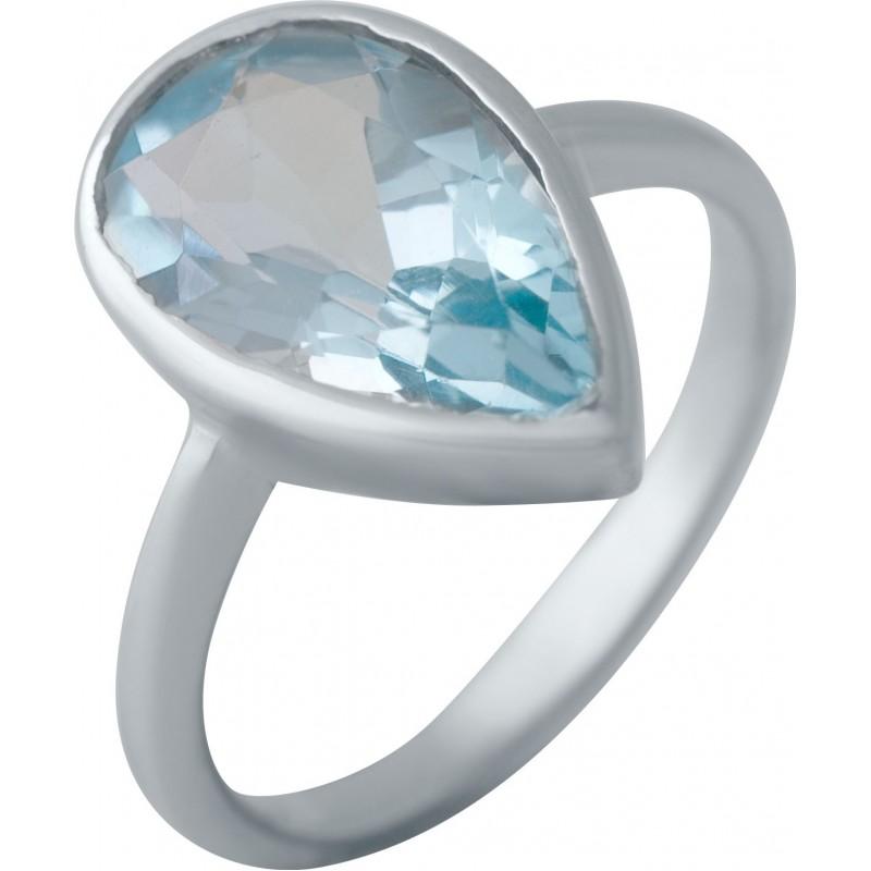 Серебряное кольцо SilverBreeze с натуральным топазом (2043942) 17.5 размер