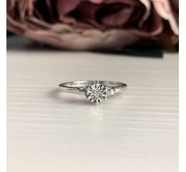 Серебряное кольцо SilverBreeze с натуральными бриллиантом 0.009ct (2043669) 16 размер
