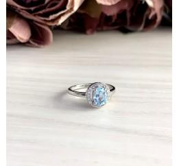 Серебряное кольцо SilverBreeze с натуральным топазом 0.95ct (2042839) 17 размер