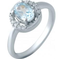 Серебряное кольцо SilverBreeze с натуральным топазом 0.95ct (2042839) 18 размер