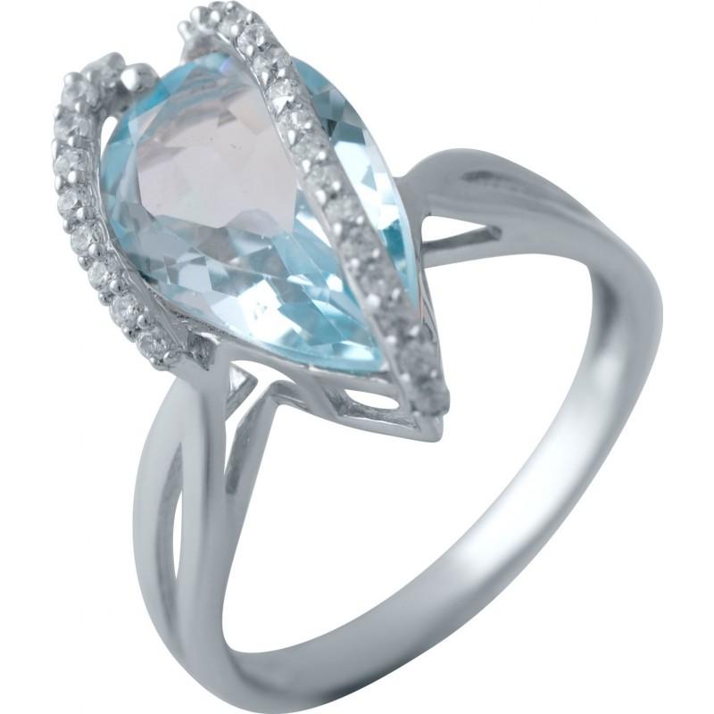 Серебряное кольцо SilverBreeze с натуральным топазом 5.84ct (2042587) 17.5 размер