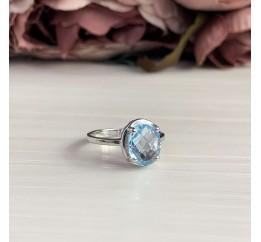 Серебряное кольцо SilverBreeze с натуральным топазом 2.76ct (2042525) 17 размер