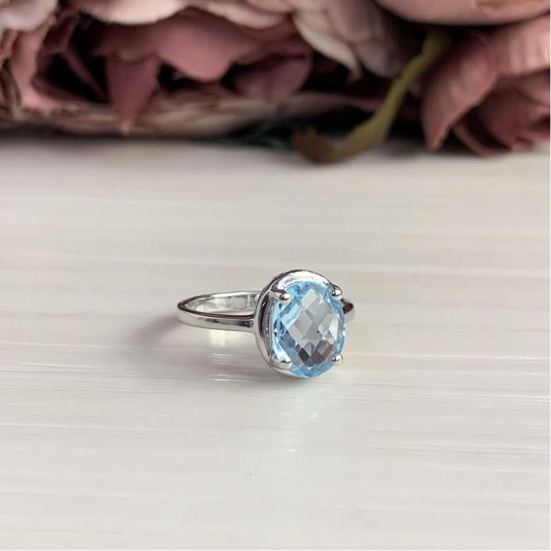 Серебряное кольцо SilverBreeze с натуральным топазом 2.76ct (2042525) 17.5 размер