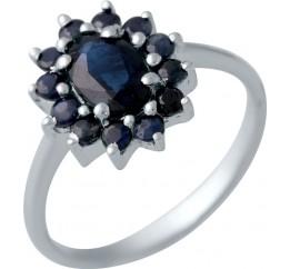 Серебряное кольцо SilverBreeze с натуральным сапфиром 1.599ct (2042198) 17.5 размер