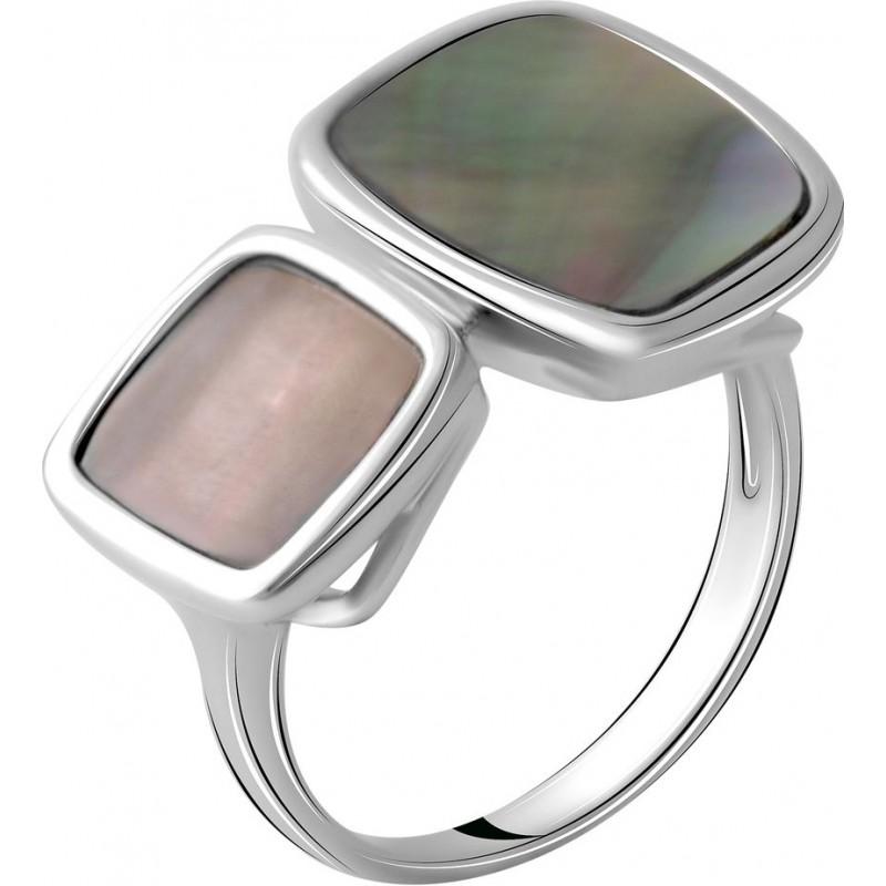 Серебряное кольцо SilverBreeze с натуральным перламутром (2041733) 18.5 размер