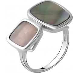 Серебряное кольцо SilverBreeze с натуральным перламутром (2041733) 18 размер