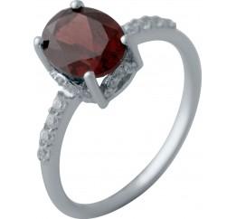 Серебряное кольцо SilverBreeze с натуральным гранатом 1.95ct (2035183) 18 размер