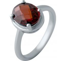 Серебряное кольцо SilverBreeze с натуральным гранатом (2035039) 17 размер