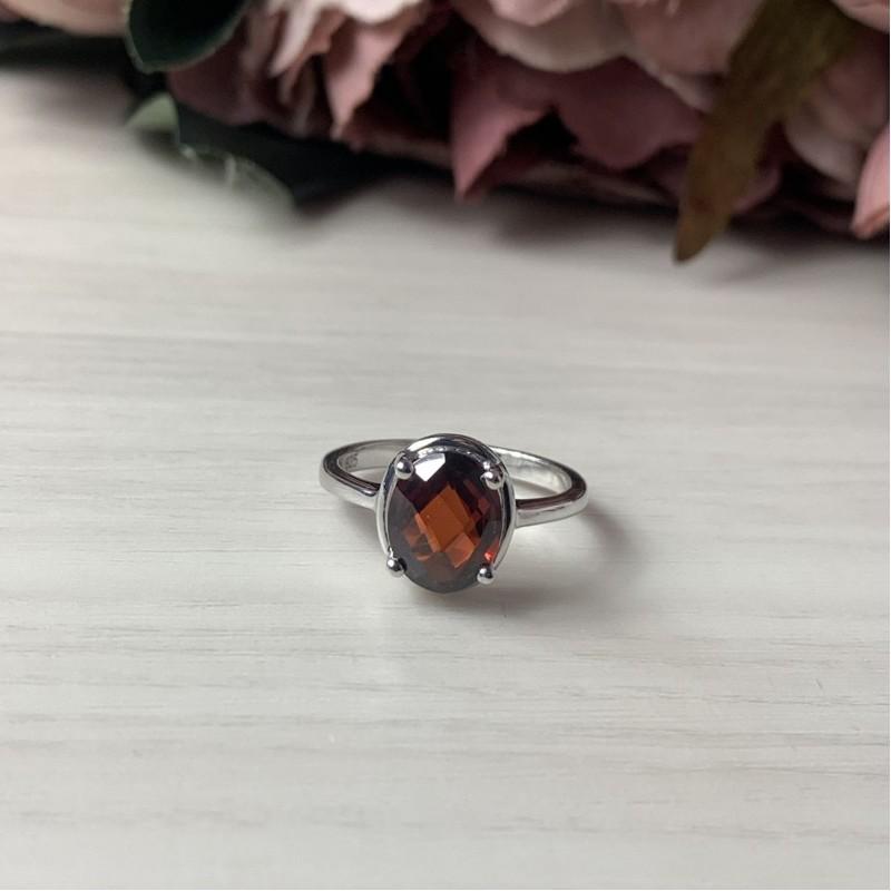 Серебряное кольцо SilverBreeze с натуральным гранатом 2.338ct (2035039) 17.5 размер