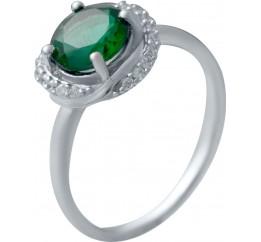 Серебряное кольцо SilverBreeze с изумрудом nano 1.208ct (2034179) 17.5 размер
