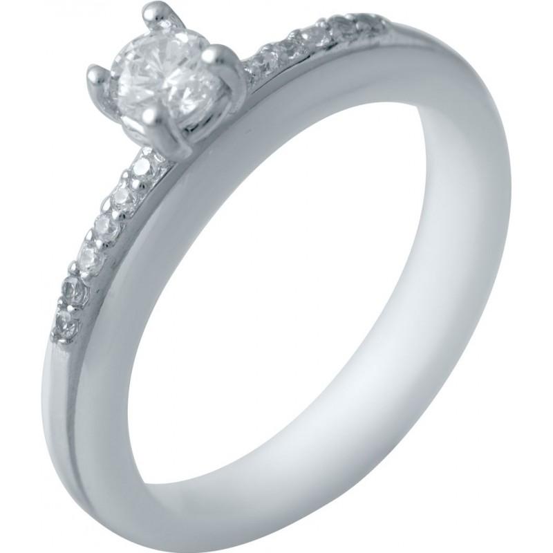 Серебряное кольцо SilverBreeze с керамикой (2032571) 18 размер