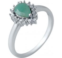 Серебряное кольцо SilverBreeze с натуральным изумрудом (2030867) 16 размер