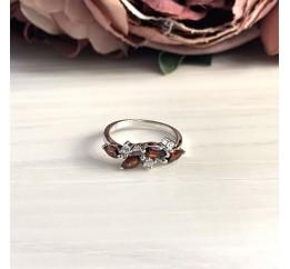Серебряное кольцо SilverBreeze с натуральным гранатом 1.398ct (2030744) 18 размер