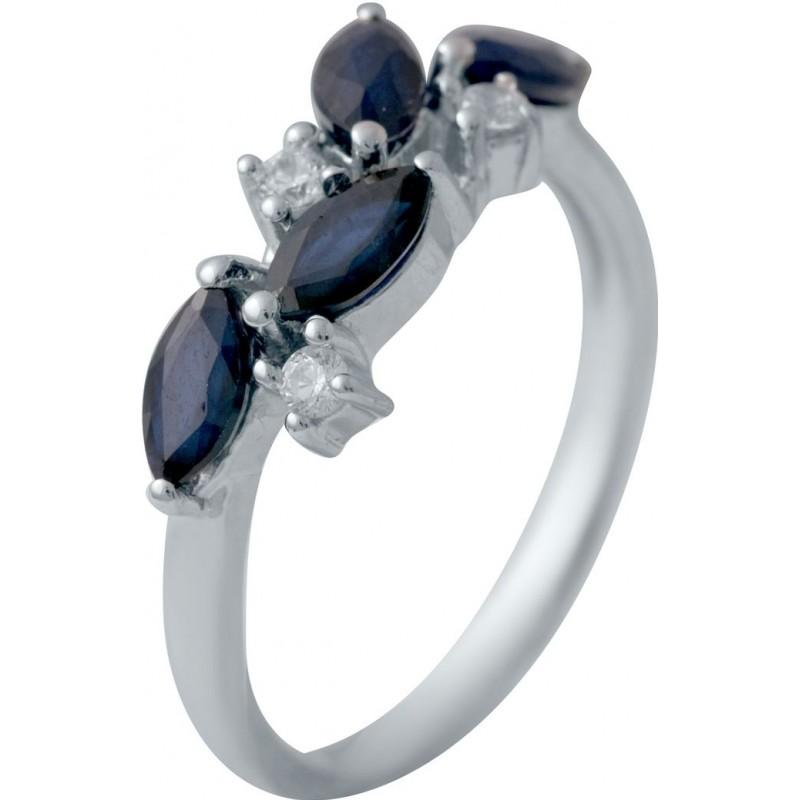 Серебряное кольцо SilverBreeze с натуральным сапфиром 1.627ct (2030348) 17.5 размер