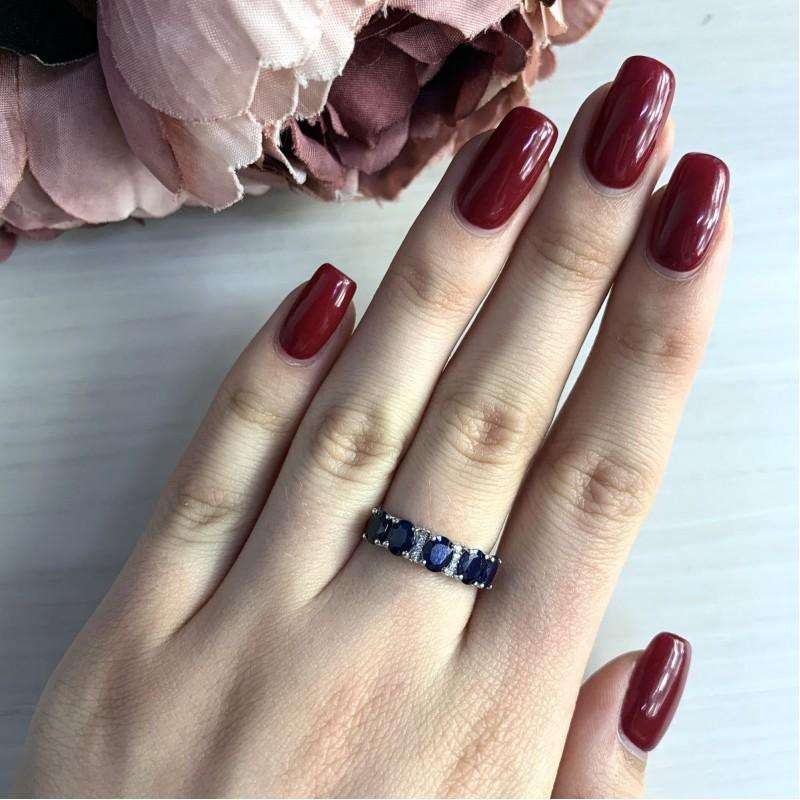 Серебряное кольцо SilverBreeze с натуральным сапфиром 2.572ct (2030195) 17.5 размер
