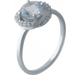 Серебряное кольцо SilverBreeze с натуральным топазом 1.708ct (2028383) 18.5 размер