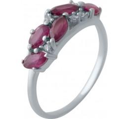 Серебряное кольцо SilverBreeze с натуральным рубином 1.648ct (2028000) 17 размер