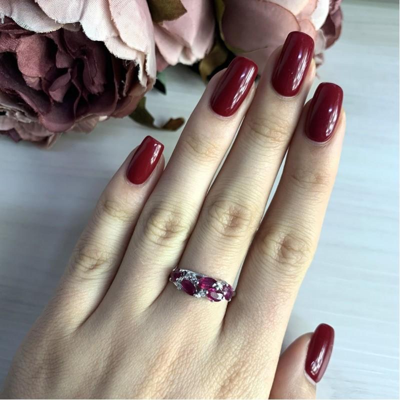 Серебряное кольцо SilverBreeze с натуральным рубином 1.648ct (2028000) 18.5 размер
