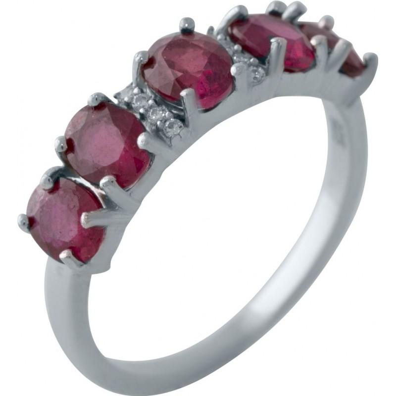 Серебряное кольцо SilverBreeze с натуральным рубином 2.089ct (2027843) 18.5 размер