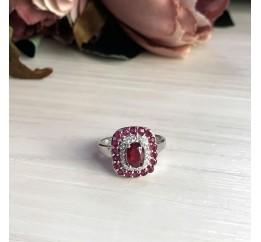 Серебряное кольцо SilverBreeze с натуральным рубином 2.2ct (2027751) 17.5 размер