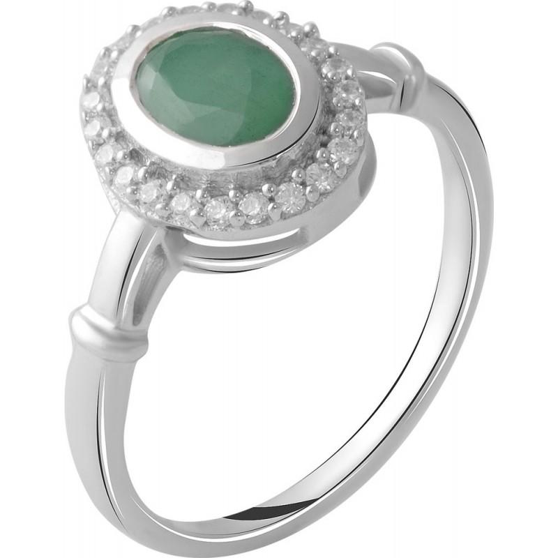 Серебряное кольцо SilverBreeze с натуральным изумрудом 1.093ct (2027492) 18.5 размер