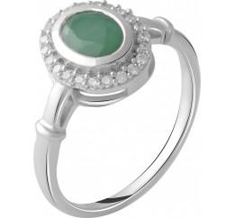 Серебряное кольцо SilverBreeze с натуральным изумрудом 1.093ct (2027492) 16.5 размер
