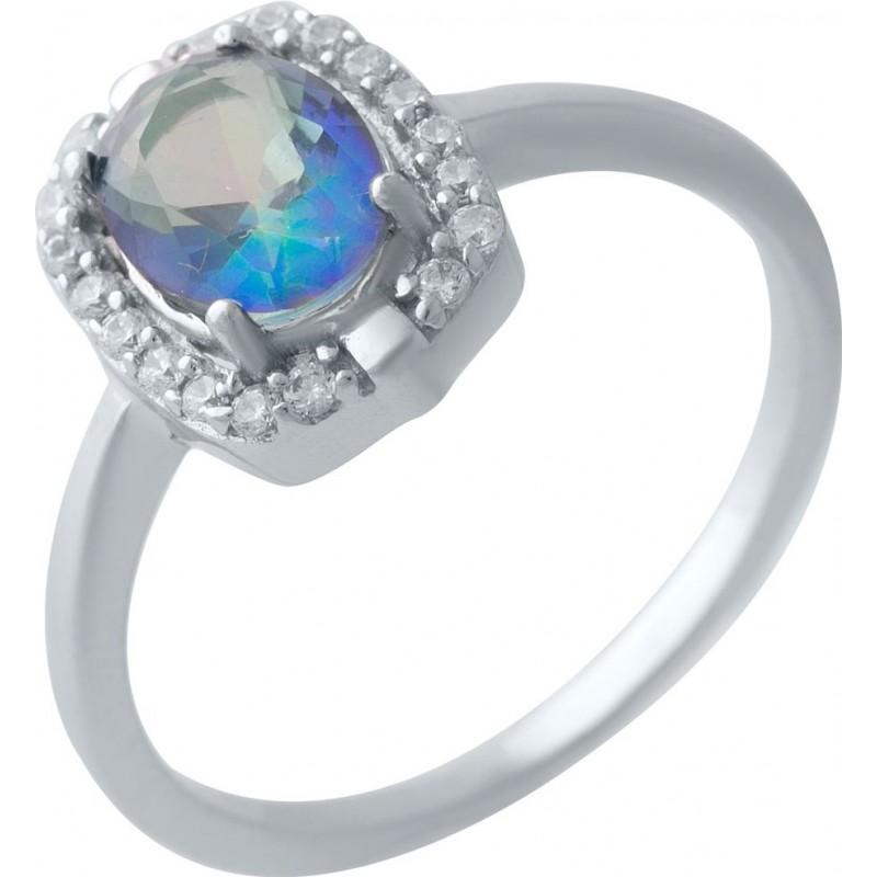 Серебряное кольцо SilverBreeze с натуральным мистик топазом 1.133ct (2024828) 17 размер