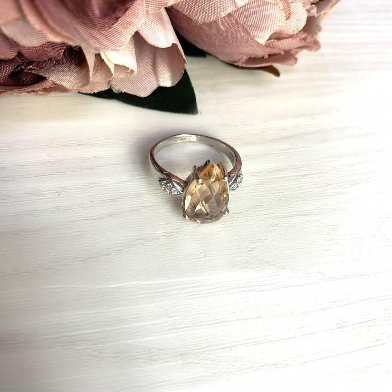 Серебряное кольцо SilverBreeze с морганитом nano 4.297ct (2021377) 19 размер