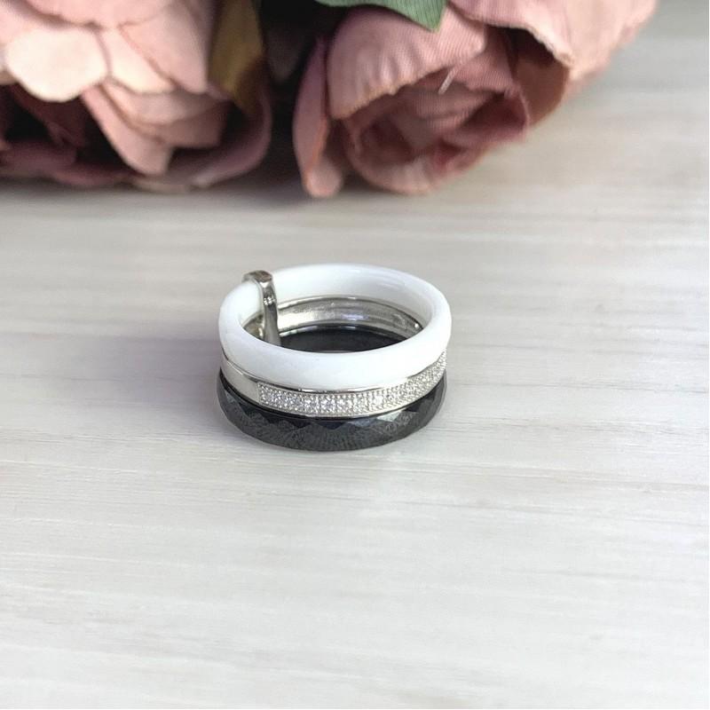Серебряное кольцо SilverBreeze с керамикой (2021346) 16.5 размер