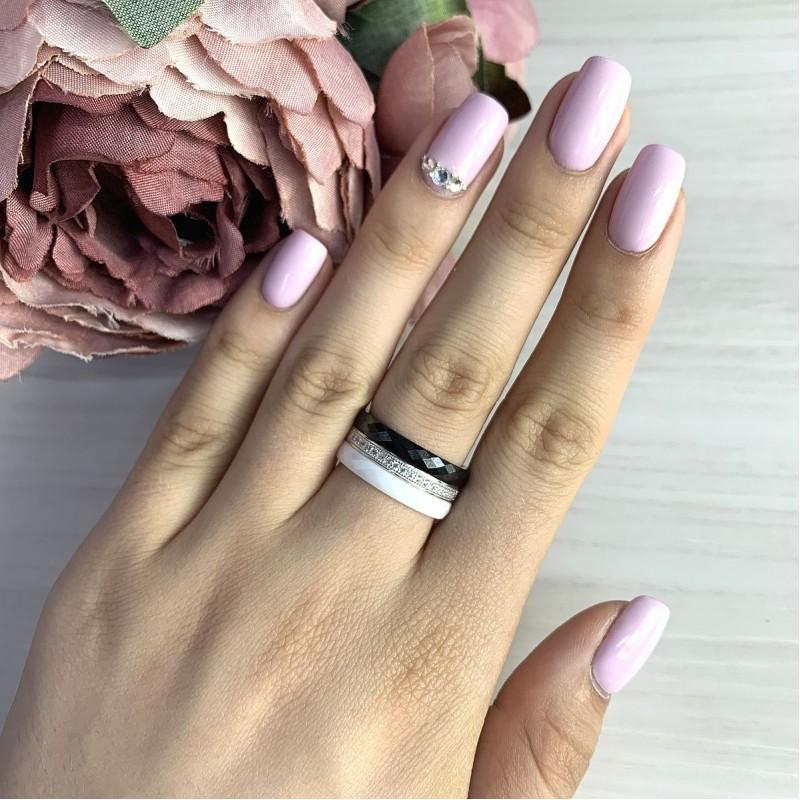 Серебряное кольцо SilverBreeze с керамикой (2021346) 17 размер